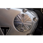 Motone ACG Badge/Points Cover.  Thruxton, Street Twin, Bobber, Bonneville: Union Flag.